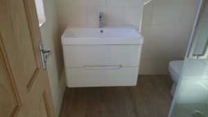 bathroom renovation work