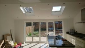 A kitchen extension in Upminster