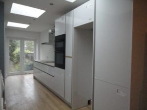 A kitchen Remodelled by Bush Builders in Brentwood Essex